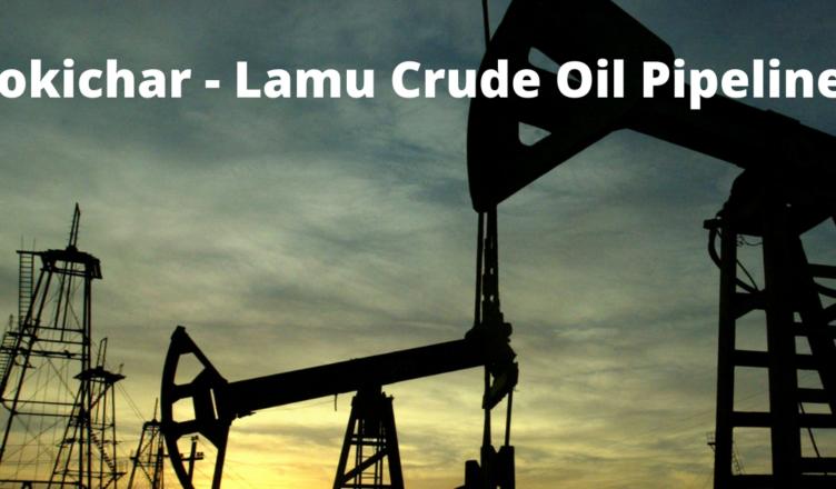 how long is lokichar lamu crude oil pipeline
