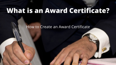 what is an award certificate