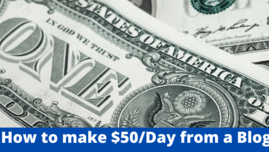 how to generate us$50 per day from a blog