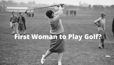who was the first woman to play golf