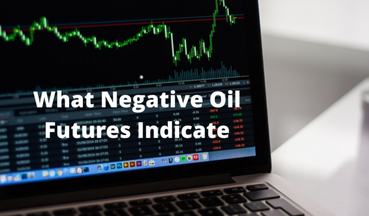 what do negative crude oil prices indicate