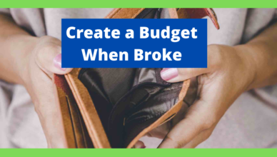 how to create a budget when broke